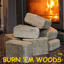 Burn'em Woods Premium Scottish sawdust wood fuel briquettes - buy online